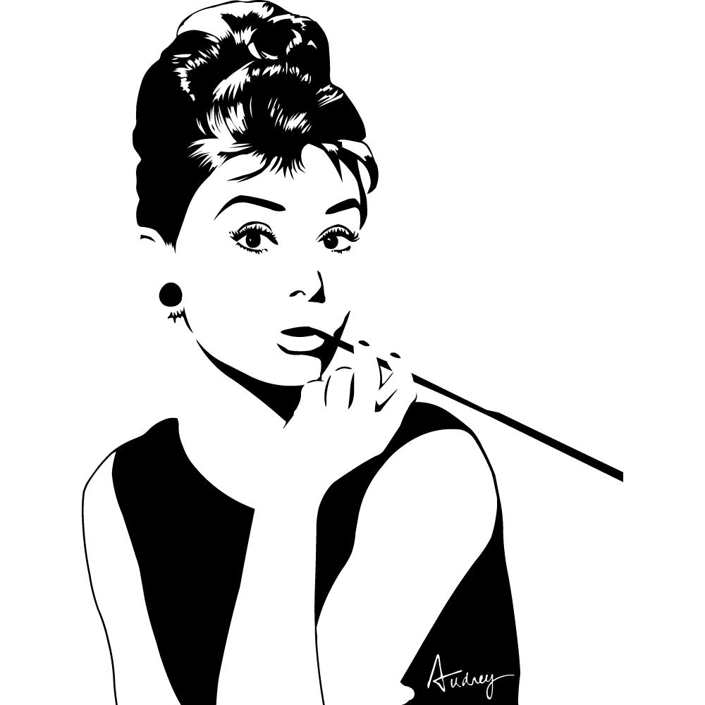 Wallstickers folies : Audrey Hepburn Wall Stickers