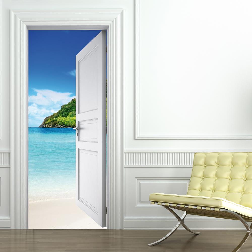 Beach Door Stickers & Wallstickers folies : Beach Door Stickers