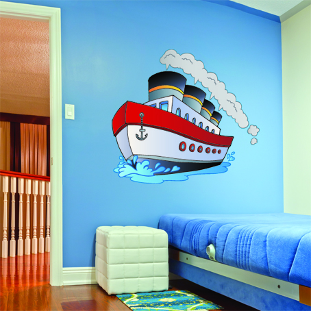 wallstickers folies boat wall stickers yacht wall sticker boat wall art