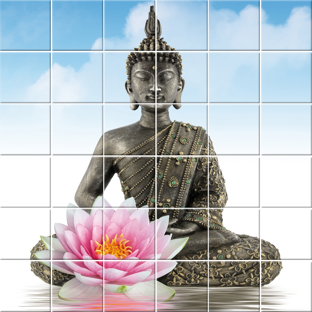 Wallstickers Folies Buddha Tiles Wall Stickers