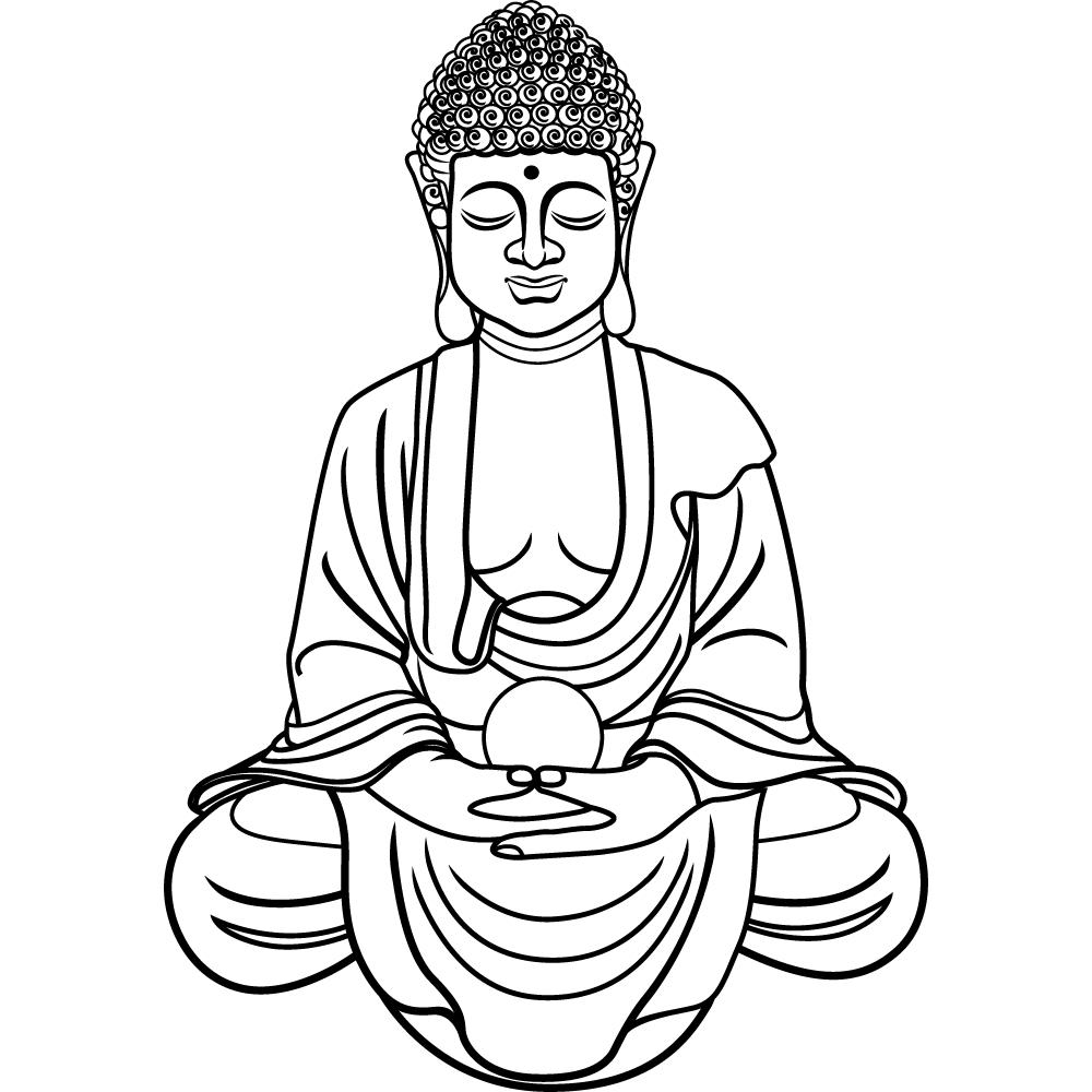 шоу-программа, тематические буддизм черно белые картинки чем учить