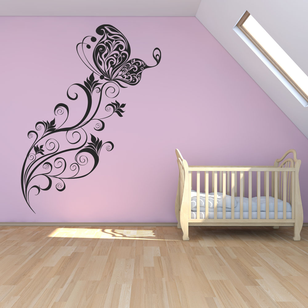 wallstickers folies butterfly flower wall stickers butterfly decorative stickers wall stickers