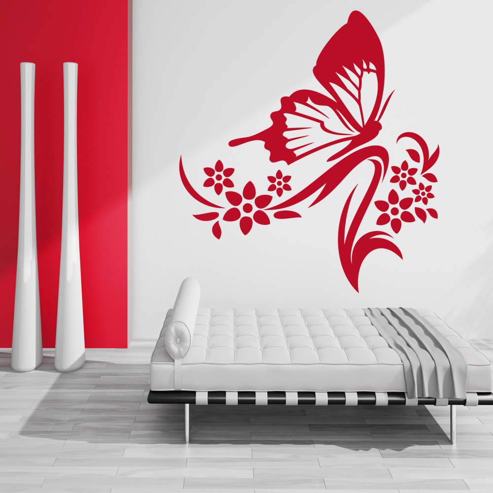 wallstickers folies butterfly flower wall stickers branch with butterflies wall sticker wall stickers