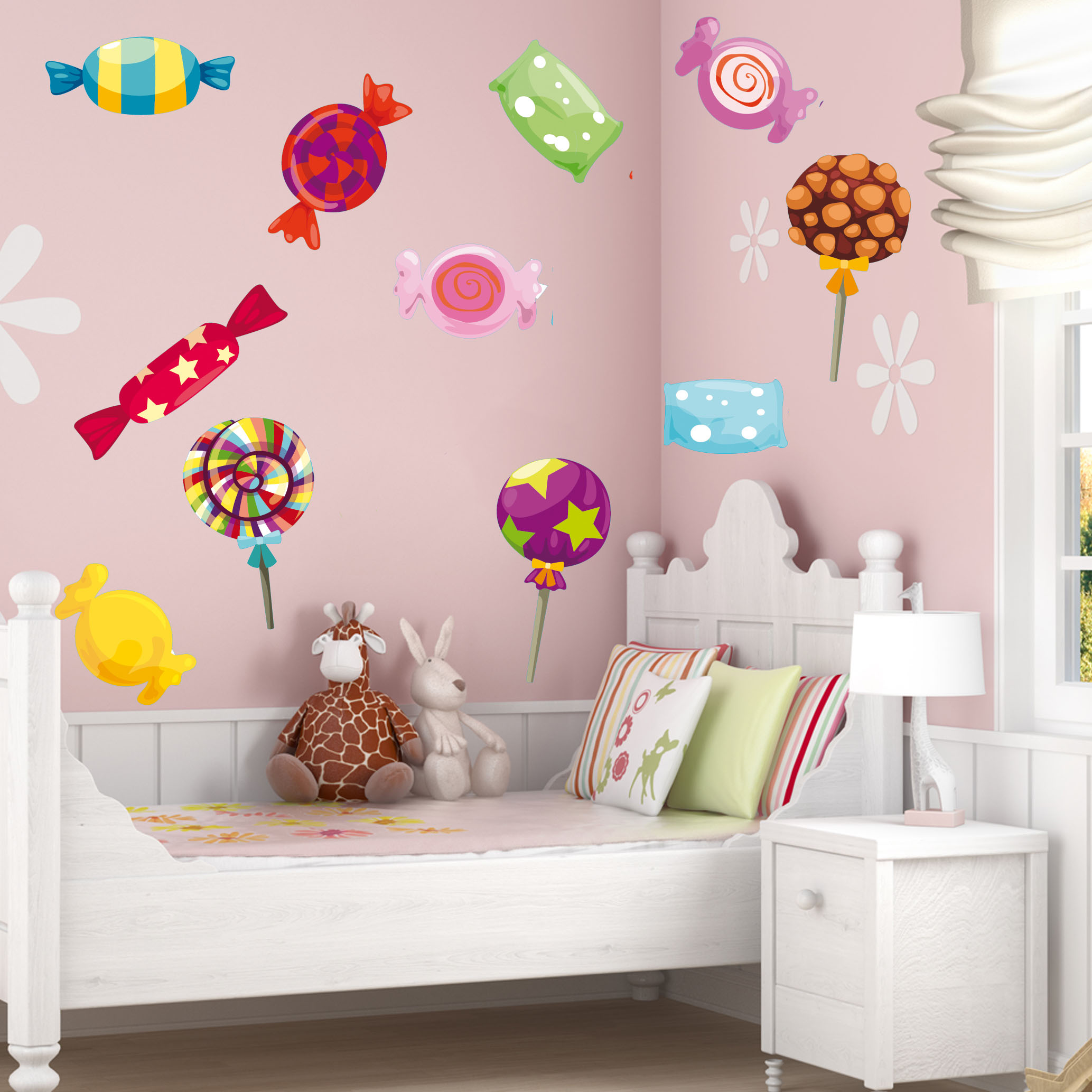 Wallstickers folies candy set wall stickers for Candy wall mural
