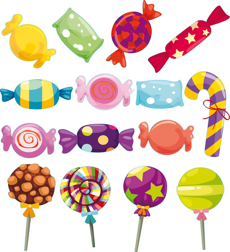 wallstickers folies candy set wall stickers