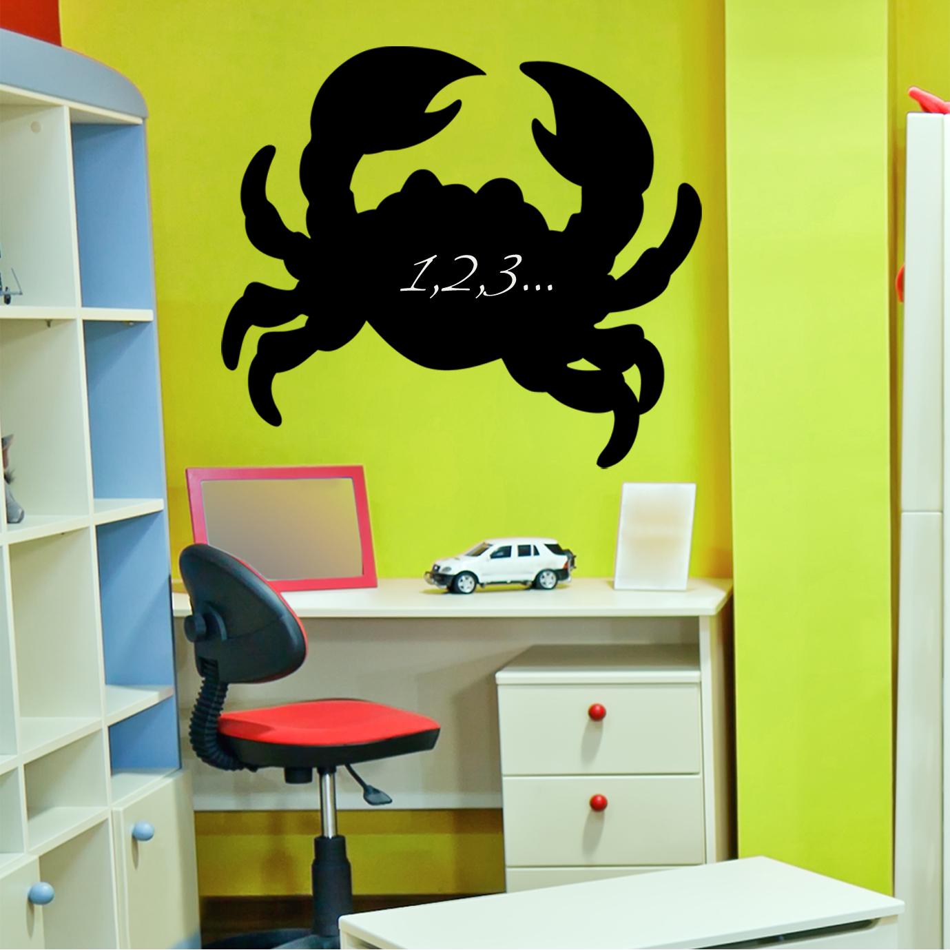 Wallstickers folies crab chalkboard blackboard wall stickers crab chalkboard blackboard wall stickers amipublicfo Images