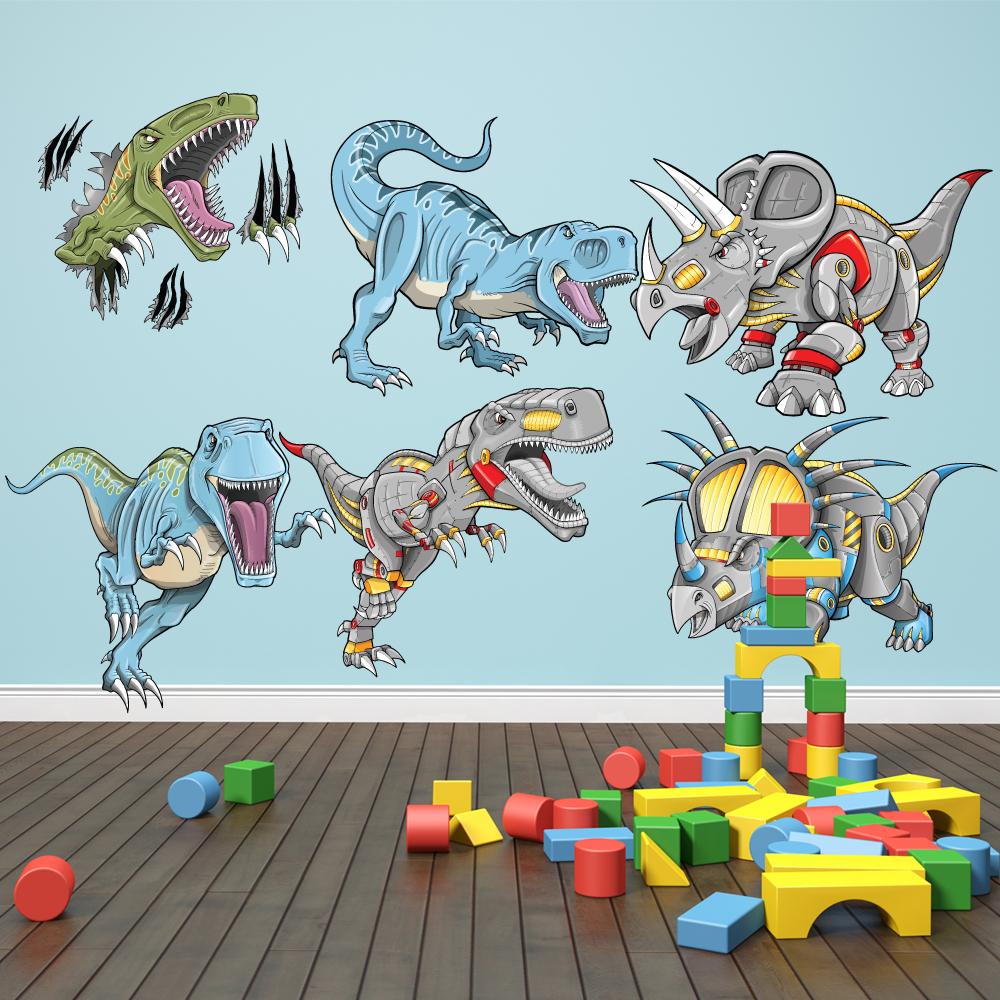 wallstickers folies dinosaur set wall stickers