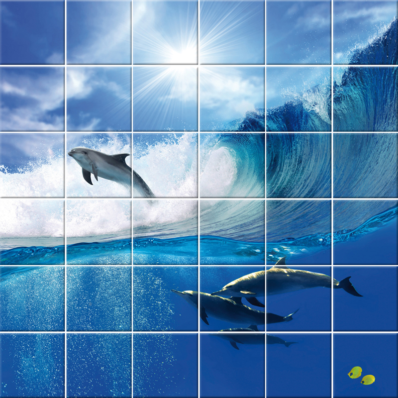Wallstickers Folies Dolphin Tiles Wall Stickers