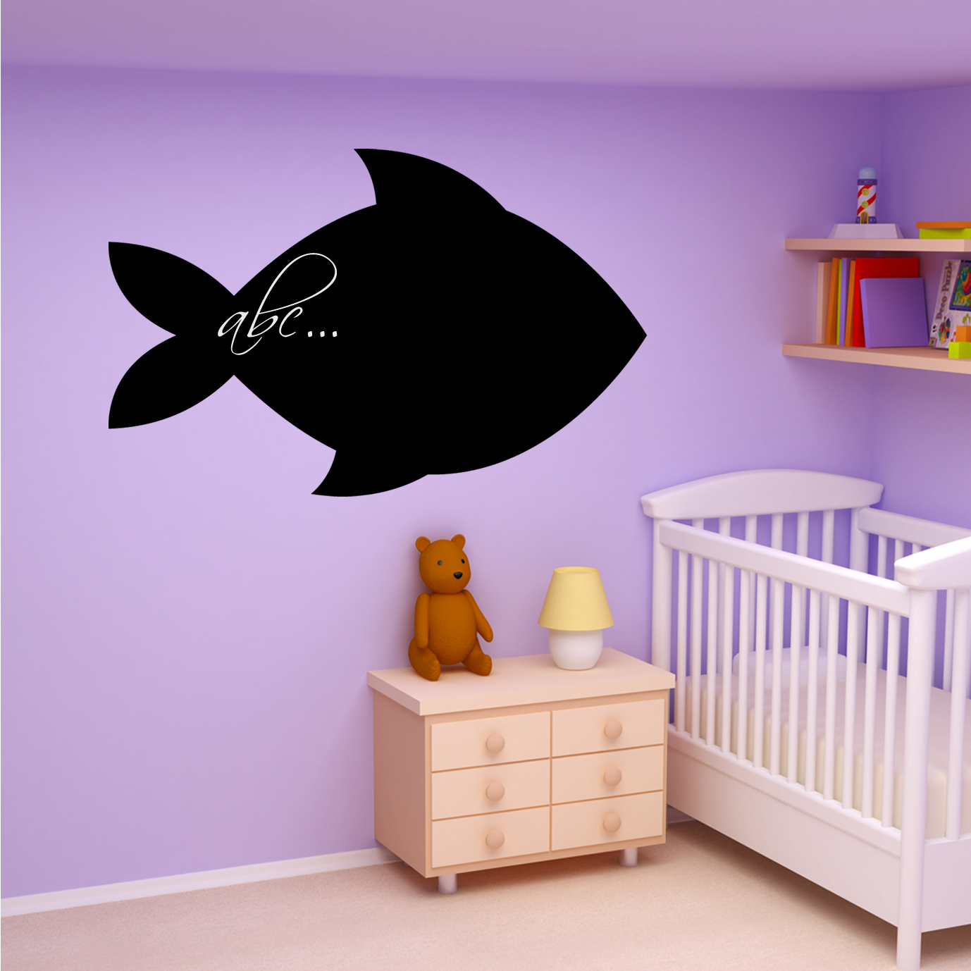 wallstickers folies fish chalkboard blackboard wall diy 3d vis muurstickers art decal pvc fishes home decor