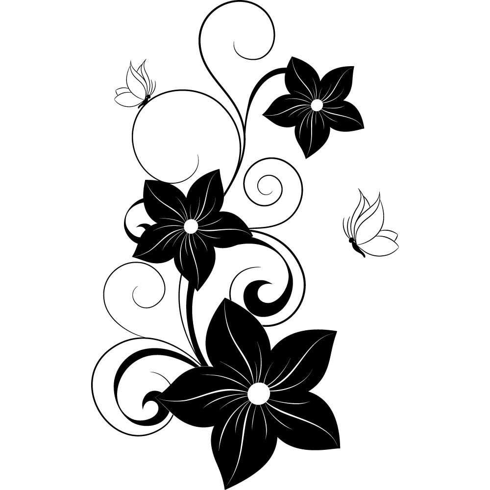 Wallstickers Folies Flower Butterflies Wall Stickers