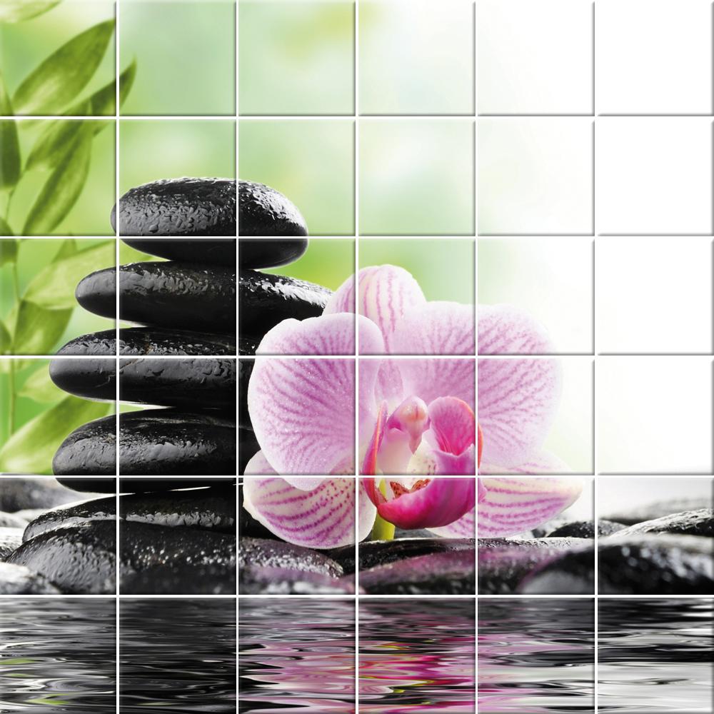 Wallstickers Folies Flower Pebbles Tiles Wall Stickers