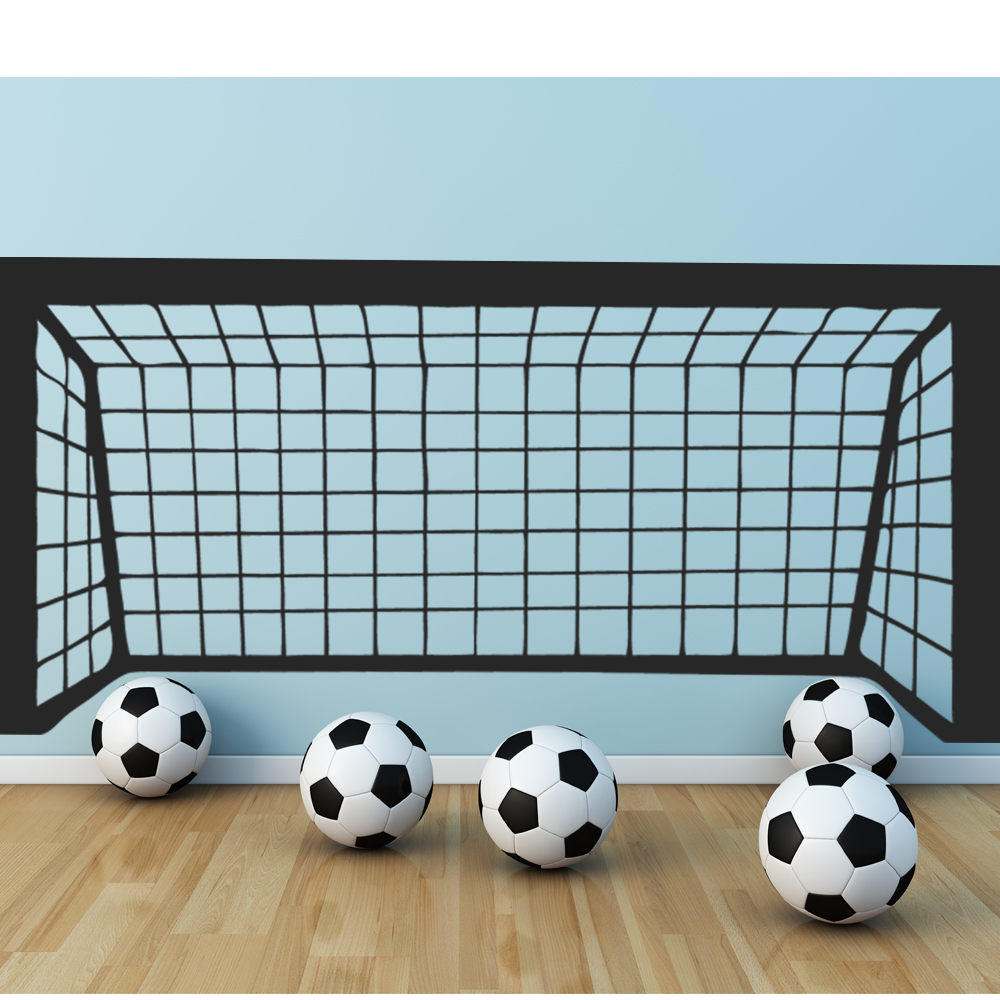 wallstickers folies football goal wall stickers. Black Bedroom Furniture Sets. Home Design Ideas