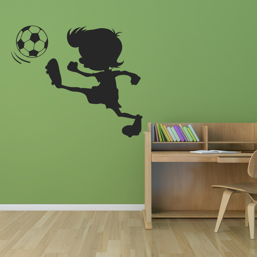 wallstickers folies football wall stickers personalised football wall sticker by the bright blue pig