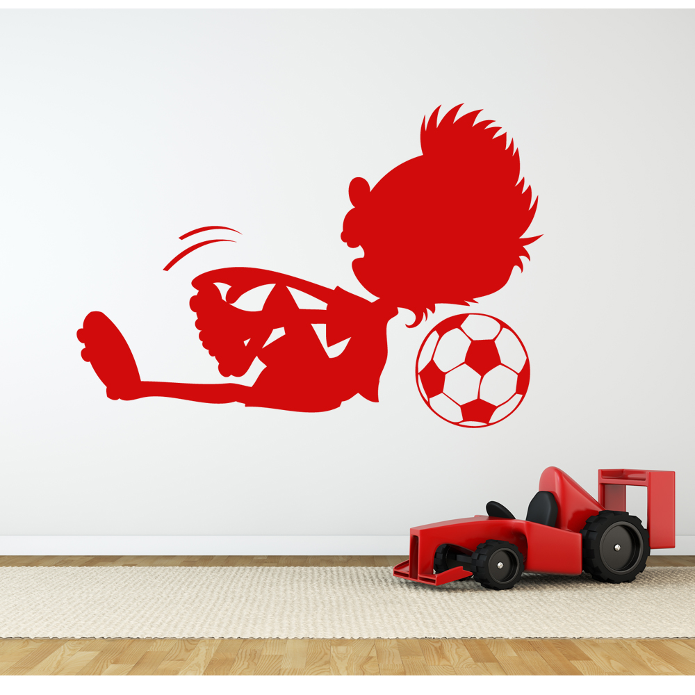 wallstickers folies football wall stickers personalised boys name football wall decal sports themed
