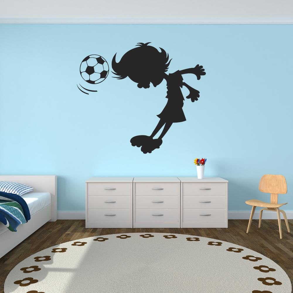 wallstickers folies football wall stickers football wall sticker 3d smashed bedroom boys girls