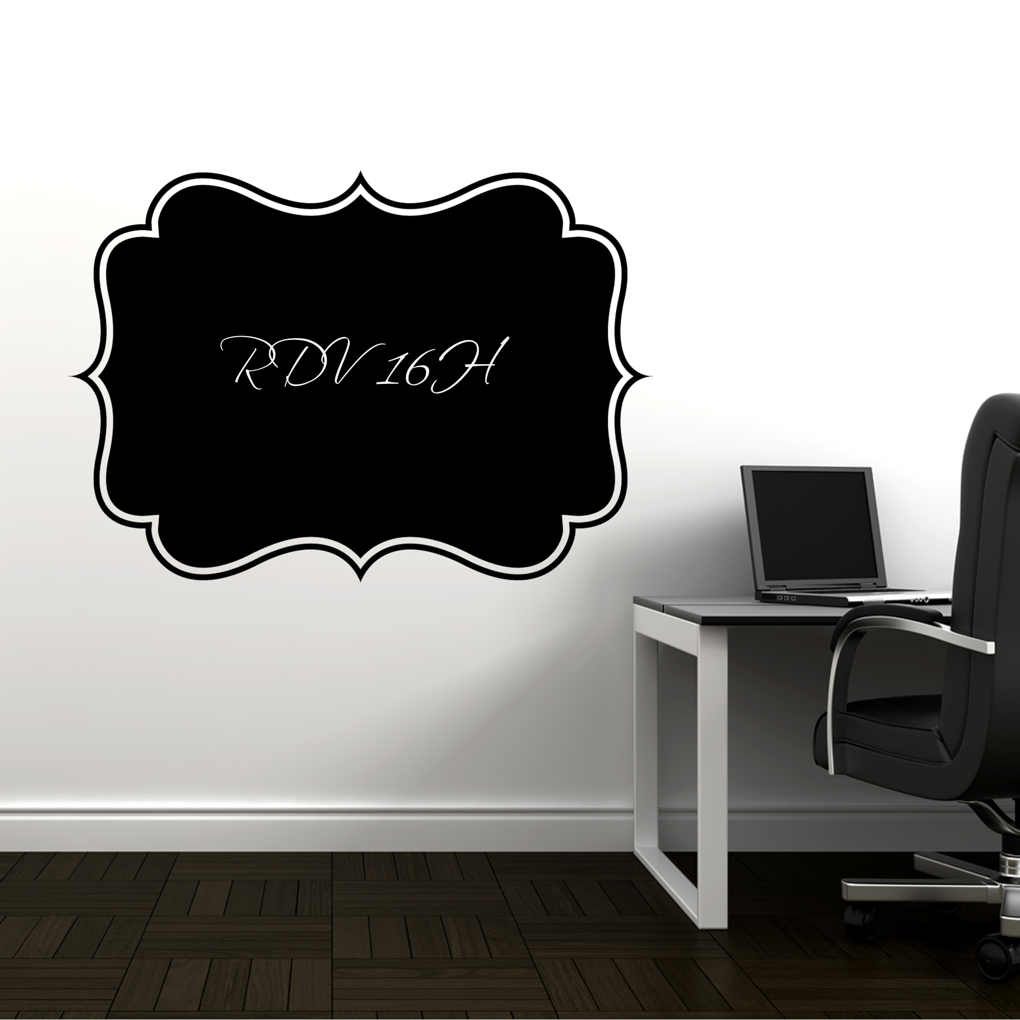 wallstickers folies frame chalkboard blackboard wall