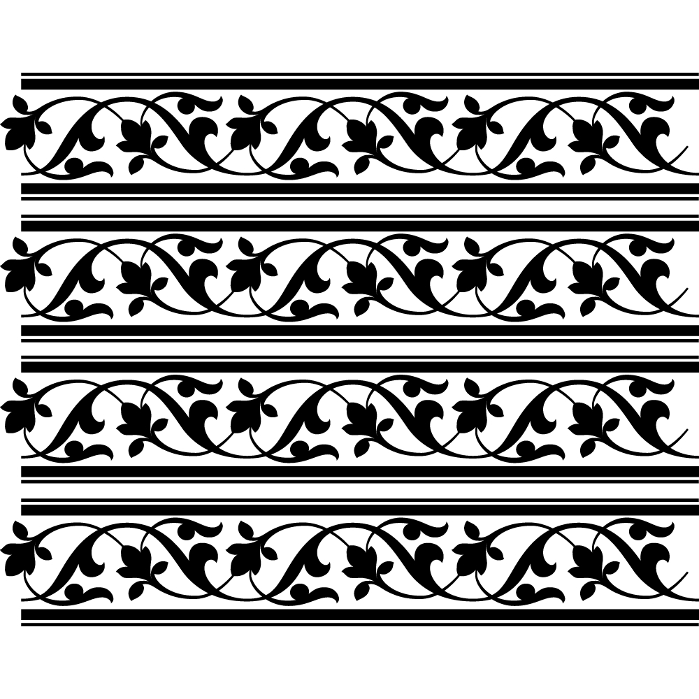 Wallstickers Folies Frieze Patterns Wall Stickers
