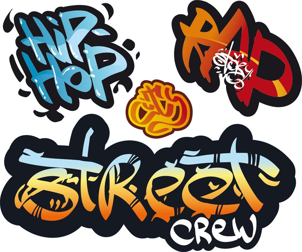 Sticker wall graffiti - Graffiti Set Wall Stickers