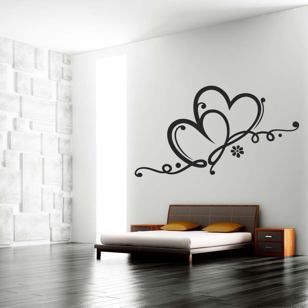 wallstickers folies heart wall stickers 3 hearts wall sticker by kyandii3
