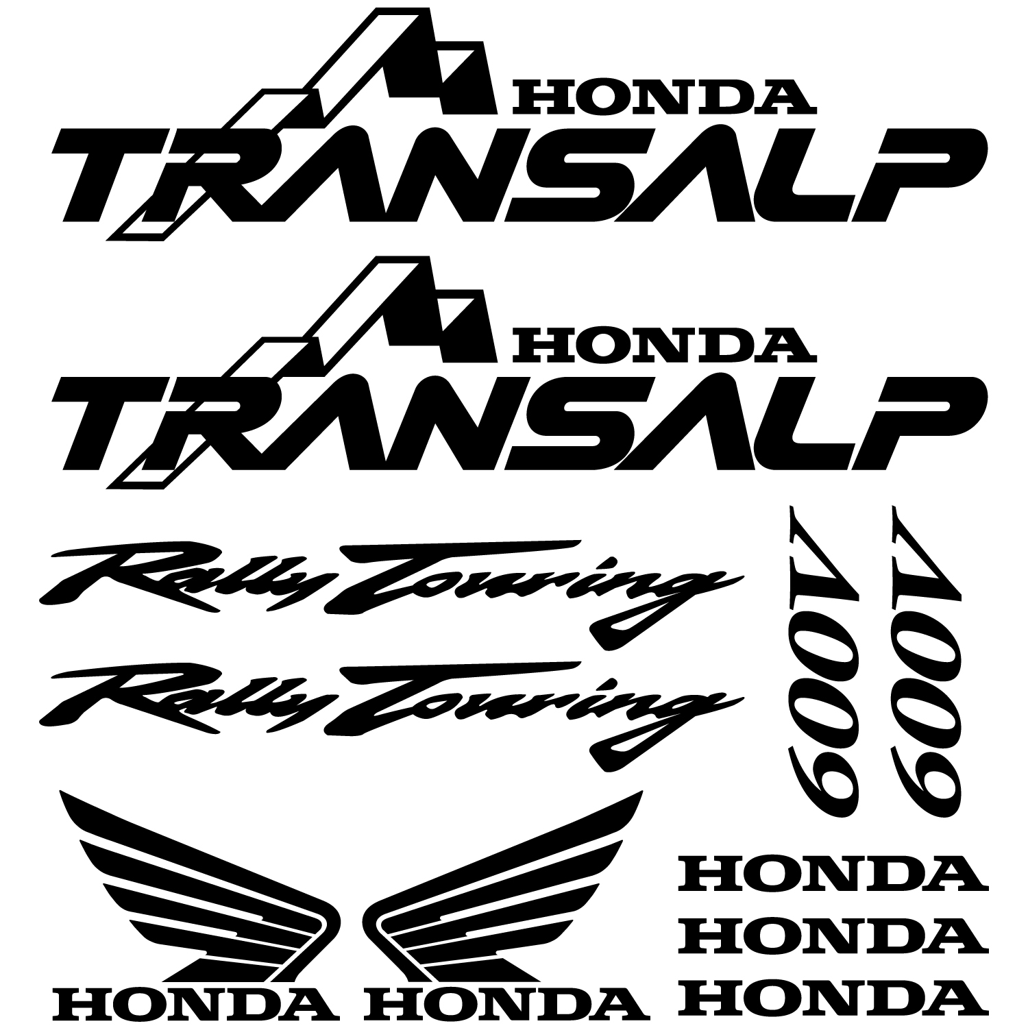 Honda transalp 600v decal stickers kit