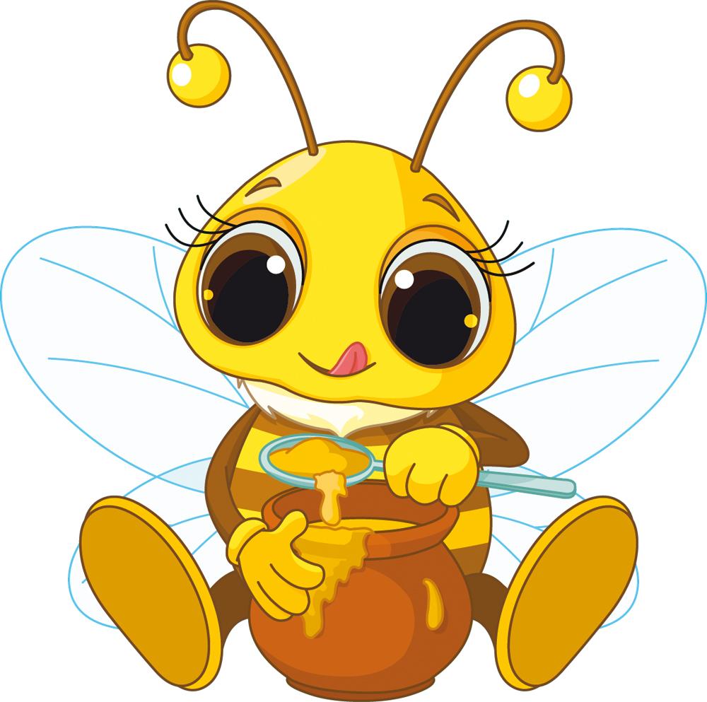 Wallstickers folies : Honey Bee Wall Stickers