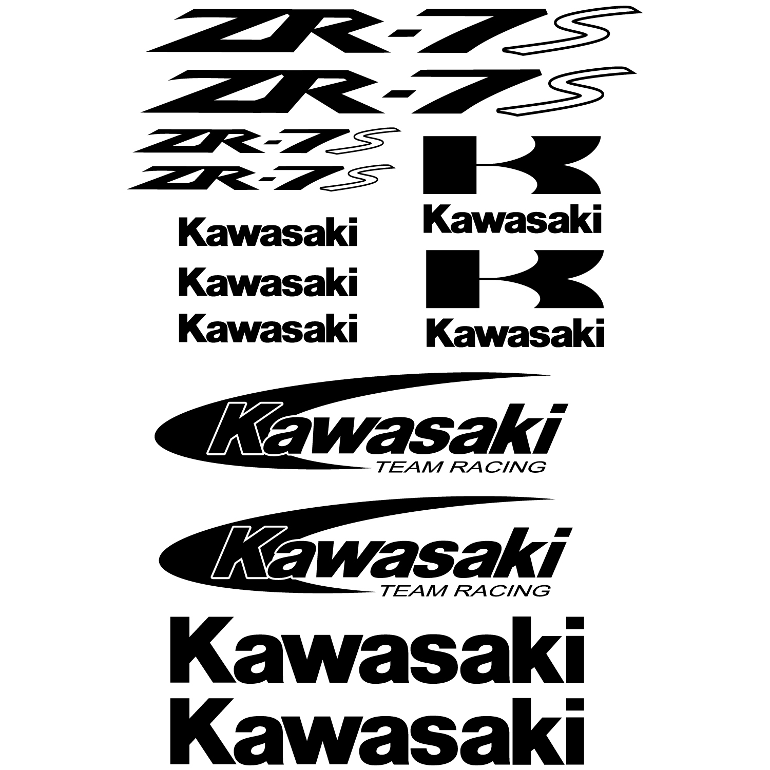 Urban Wall Stickers Wallstickers Folies Kawasaki Zr 7s Decal Stickers Kit