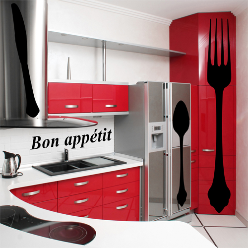 wallstickers folies : kitchen set wall stickers