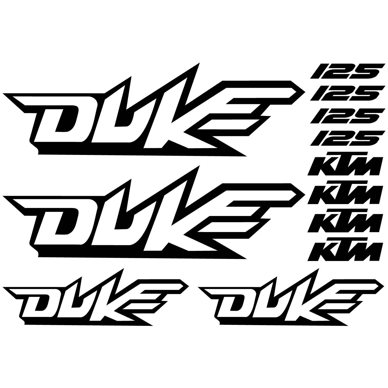 Wallstickers Folies Ktm 125 Duke Decal Stickers Kit