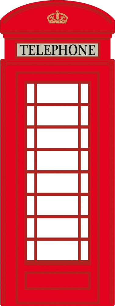 Wallstickers folies : London Phone Box Wall Stickers