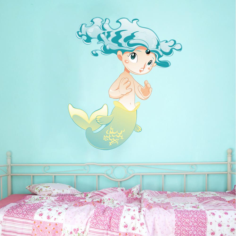 Wallstickers Folies Mermaid Wall Stickers