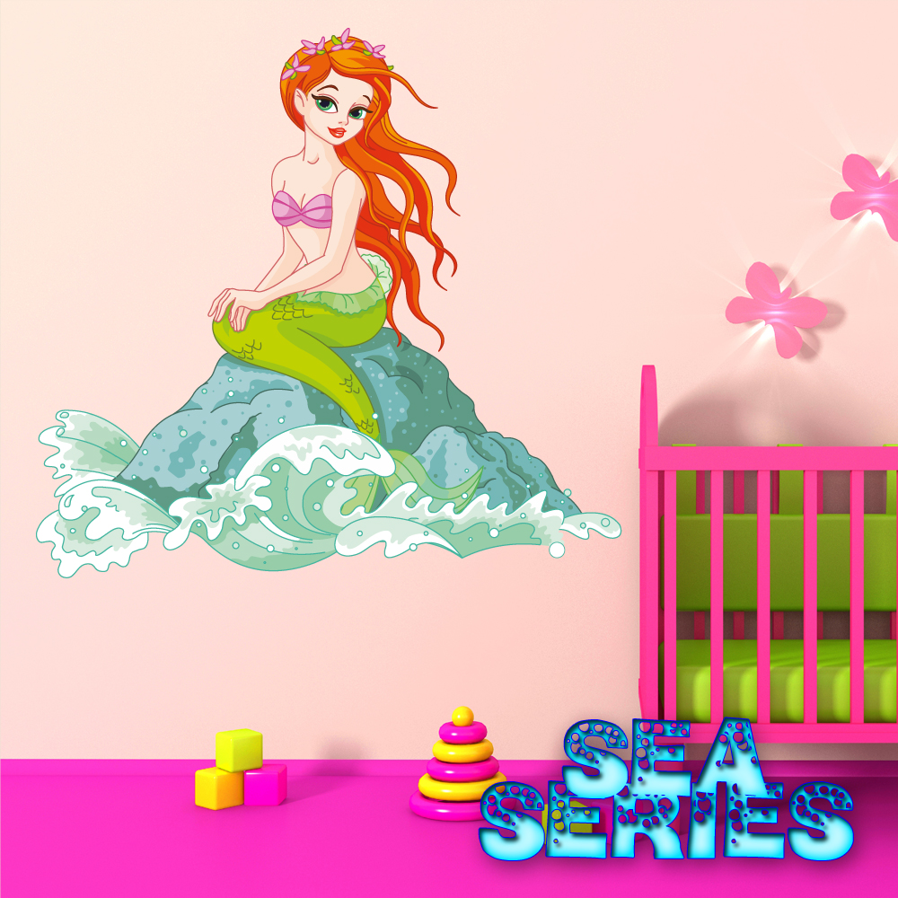 Wallstickers folies mermaid wall stickers mermaid wall stickers amipublicfo Image collections