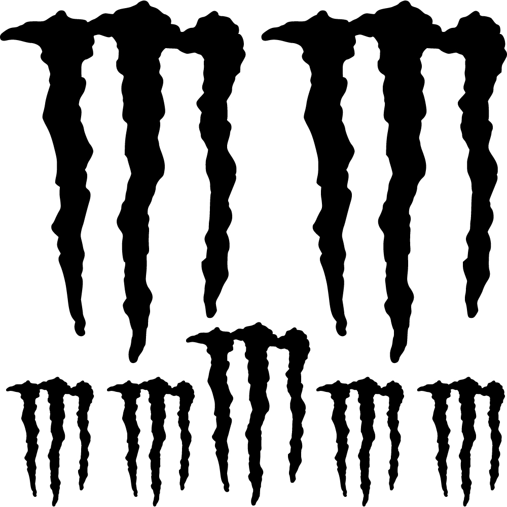 wallstickers folies monster energy decal stickers kit