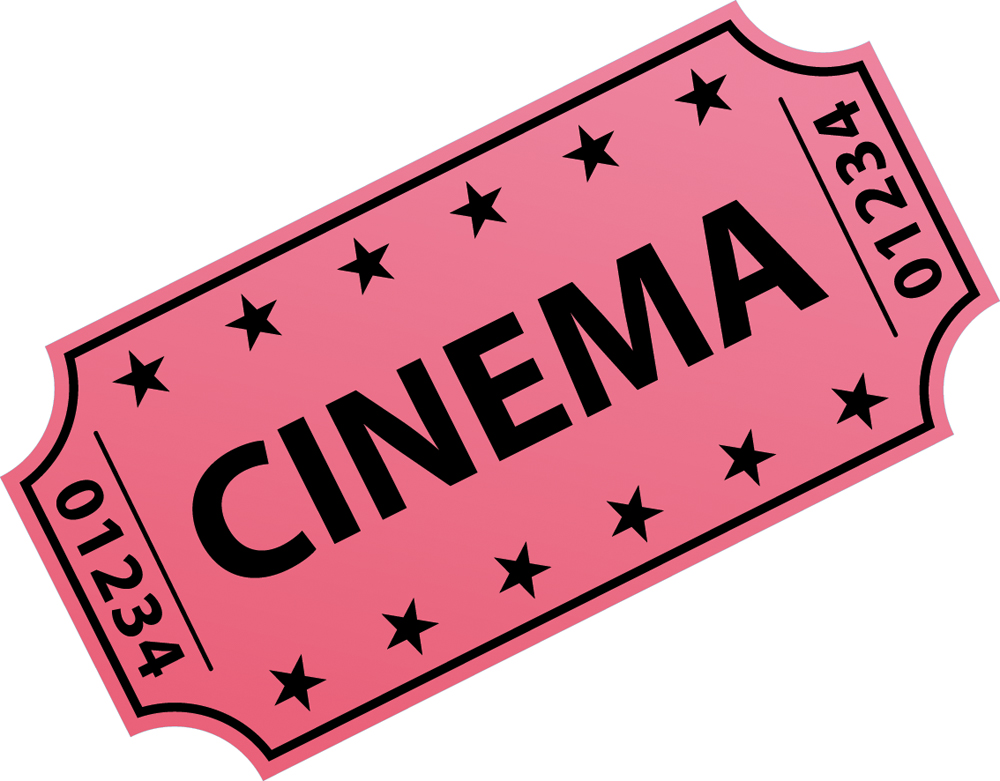 wallstickers folies movie ticket wall stickers. Black Bedroom Furniture Sets. Home Design Ideas