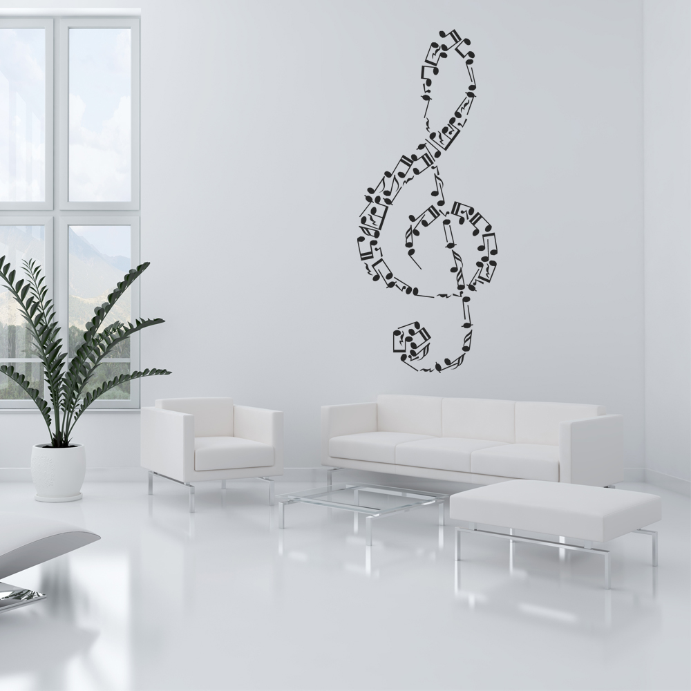 wallstickers folies musical note wall stickers
