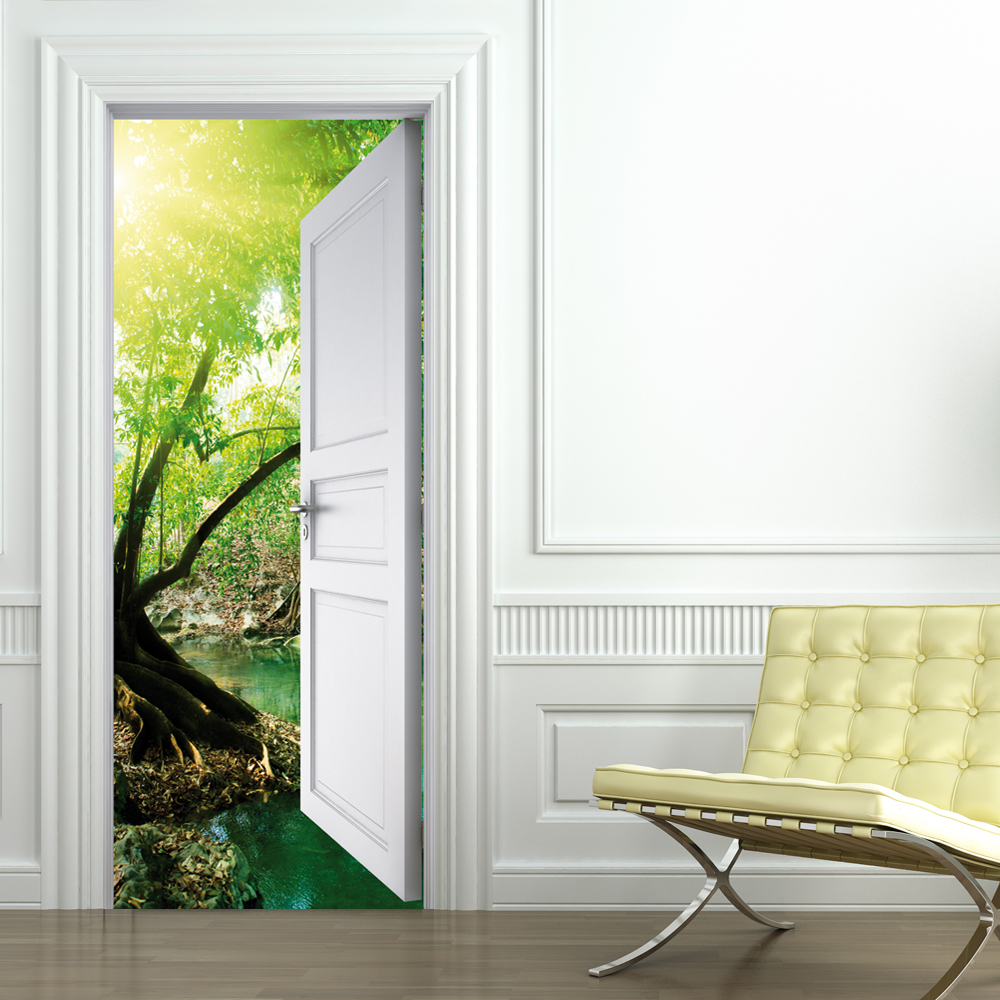 wallstickers folies nature door stickers. Black Bedroom Furniture Sets. Home Design Ideas