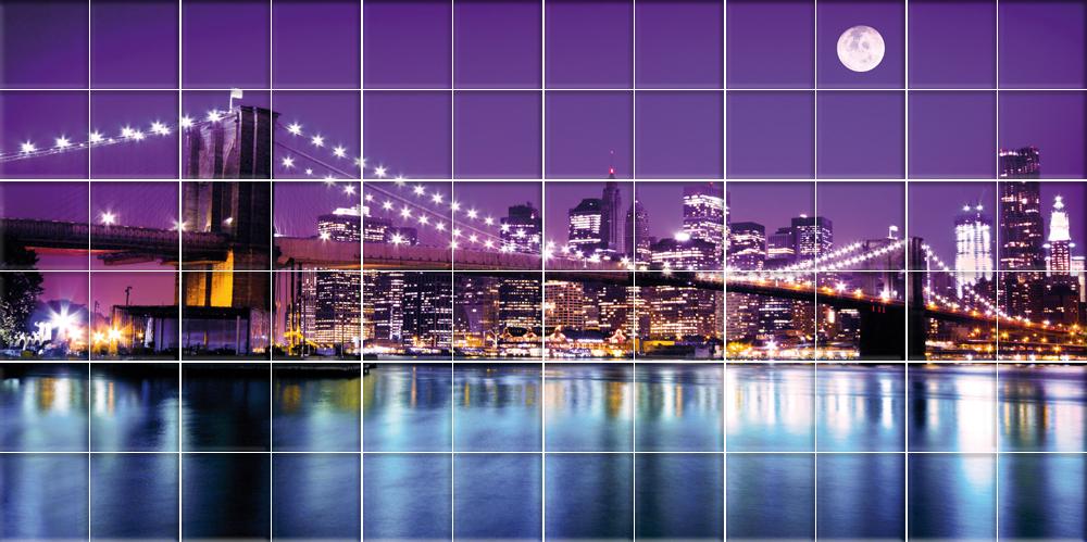 Wallstickers Folies New York Bridge Tiles Wall Stickers