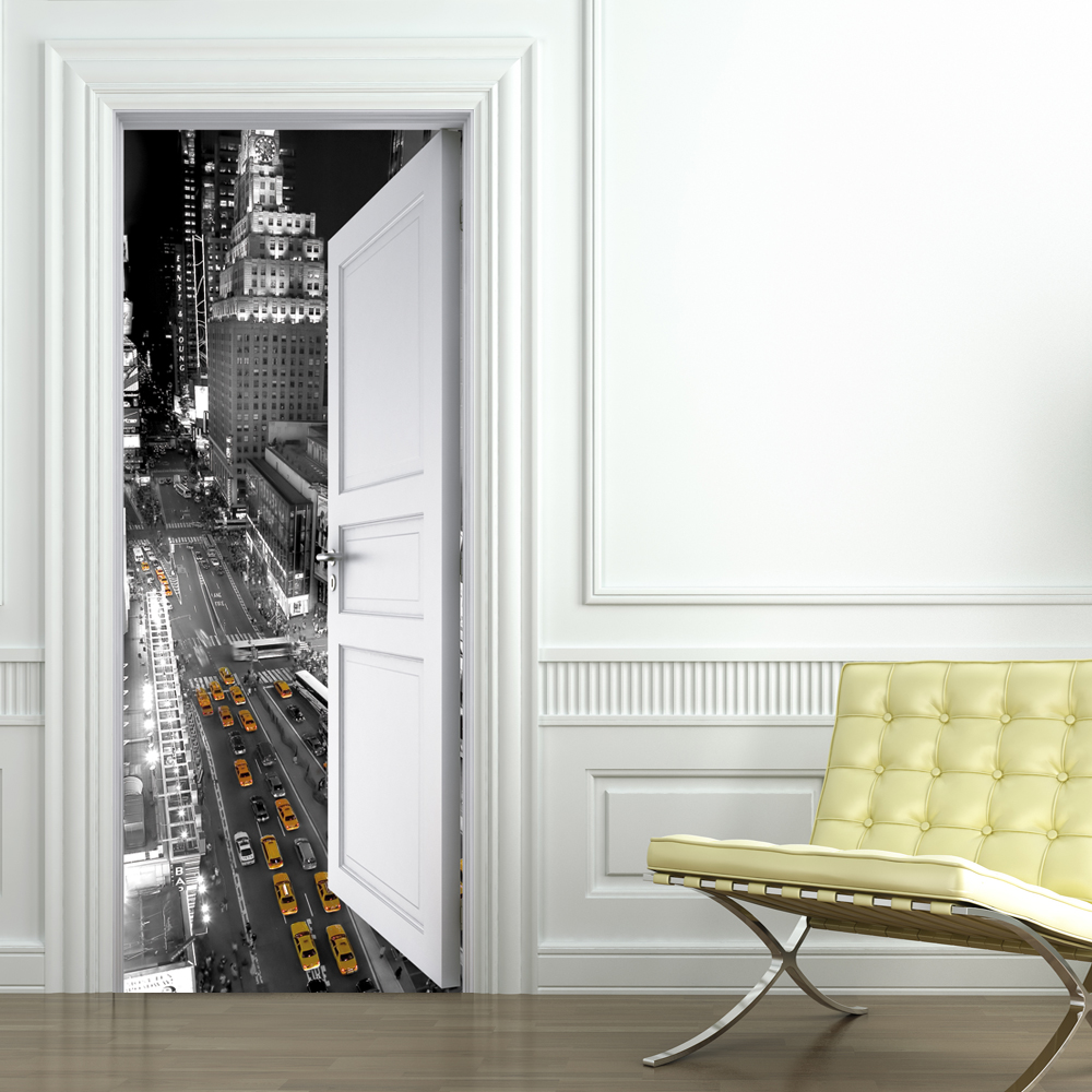wallstickers folies new york door stickers. Black Bedroom Furniture Sets. Home Design Ideas
