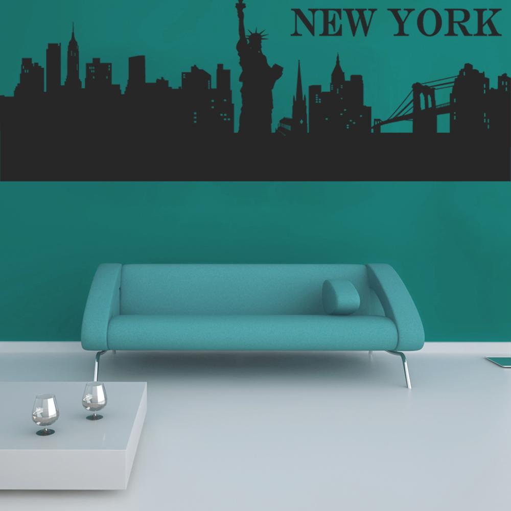 Wallstickers folies new york wall stickers - Stickers porte new york ...
