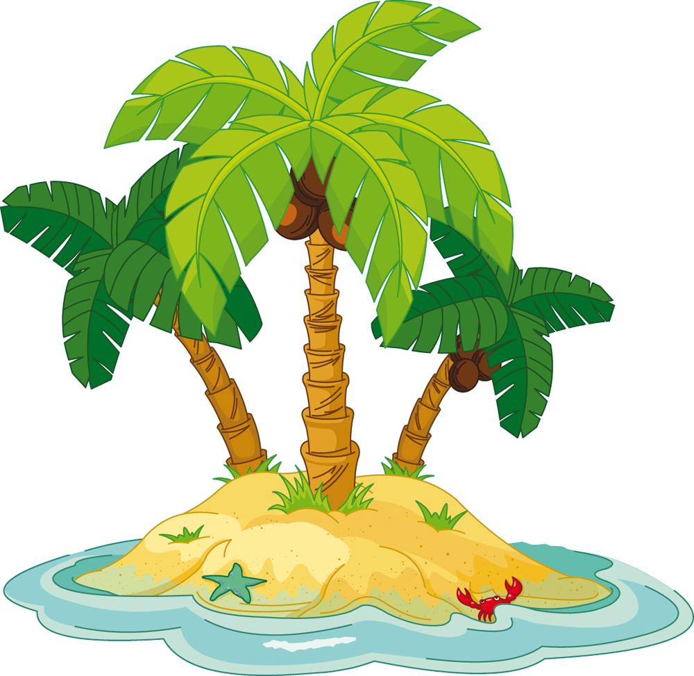 Картинки пальмы острова детские
