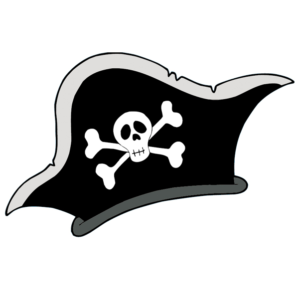 Pirate Hat Drawing Wallstickers fo...
