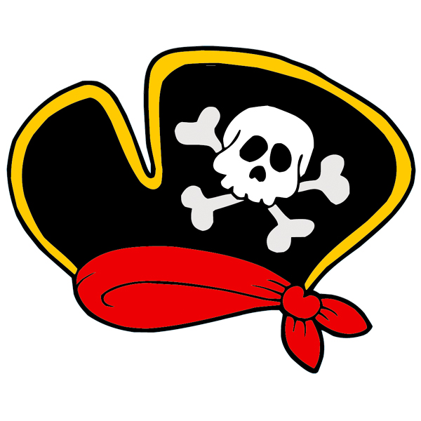 Wallstickers folies : Pirate Hat Wall Stickers