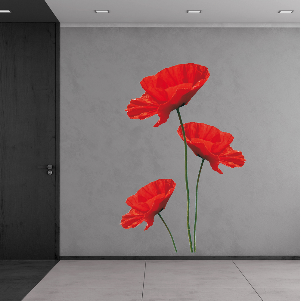 wallstickers folies poppy wall stickers poppy wall sticker wall stickers