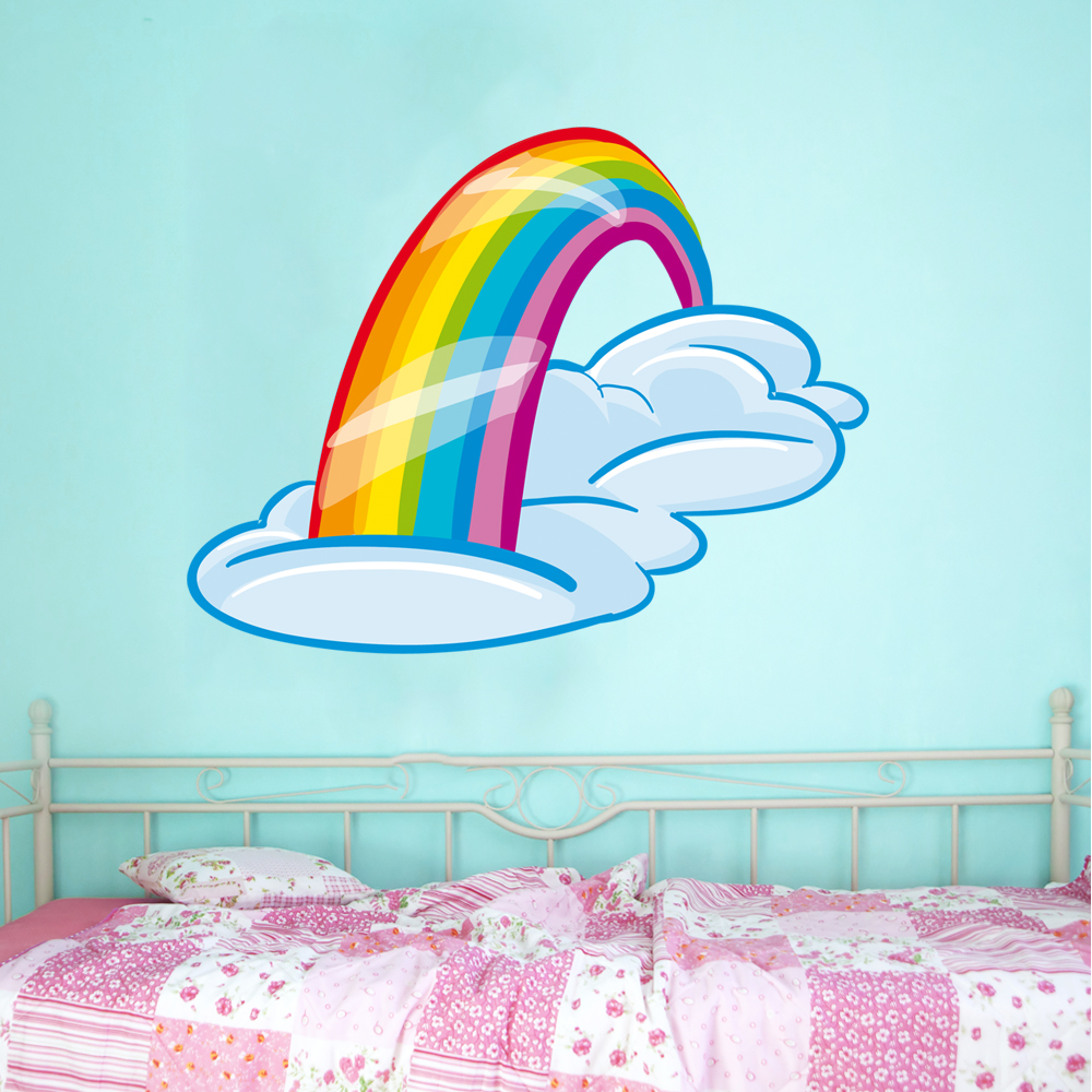 Wallstickers folies rainbow wall stickers rainbow wall stickers amipublicfo Images