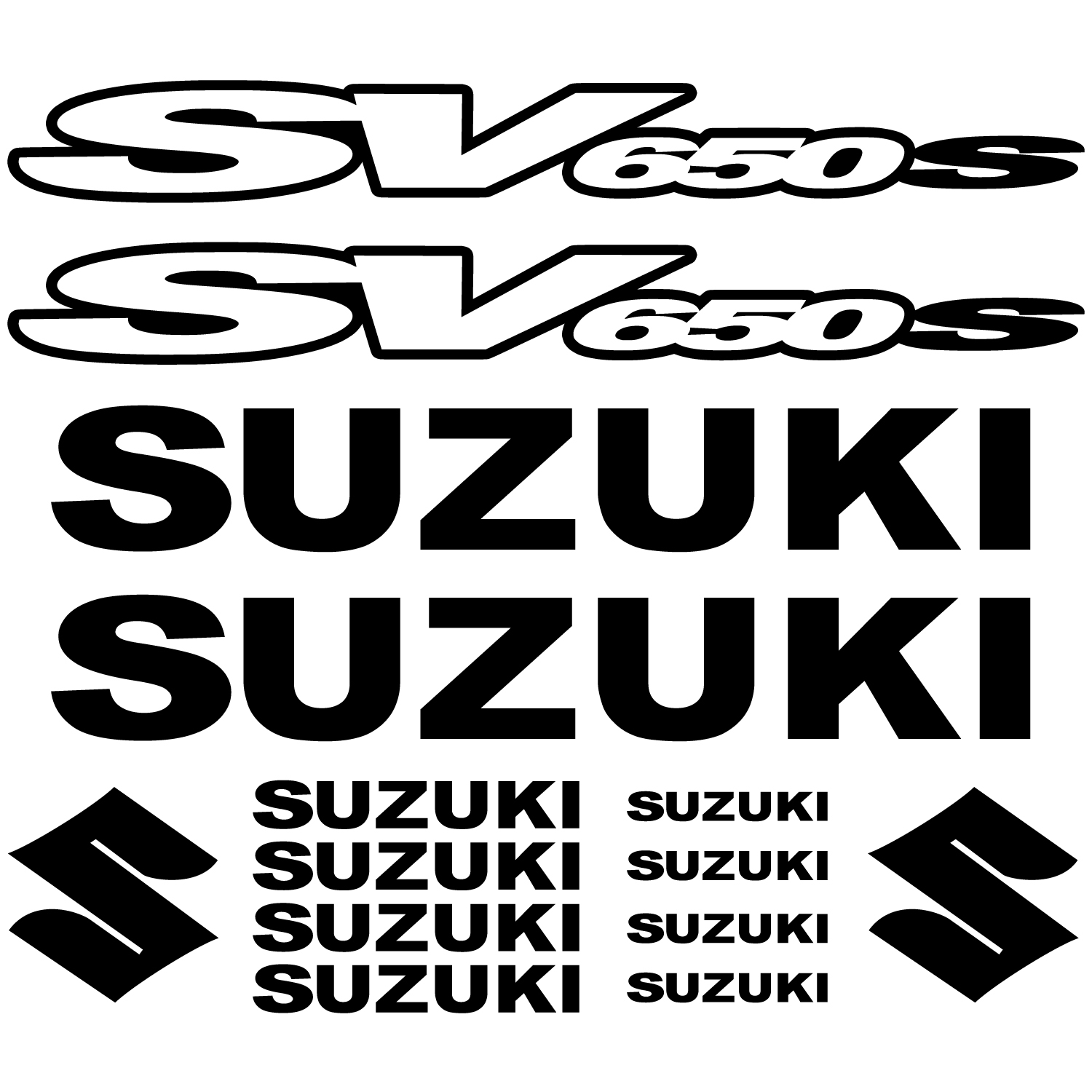Urban Wall Stickers Wallstickers Folies Suzuki Sv650 S Decal Stickers Kit