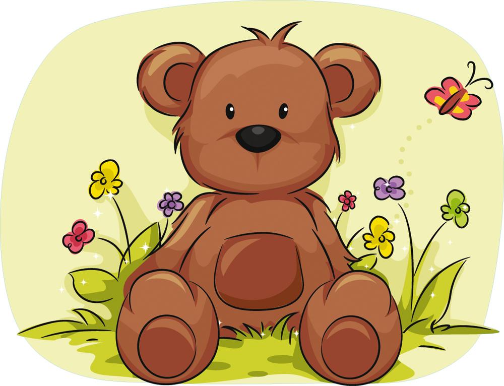Wallstickers folies : Teddy Bear Wall Stickers
