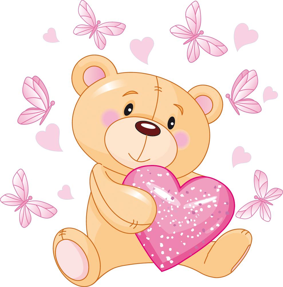 Wallstickers Folies Teddy Bear Wall Stickers