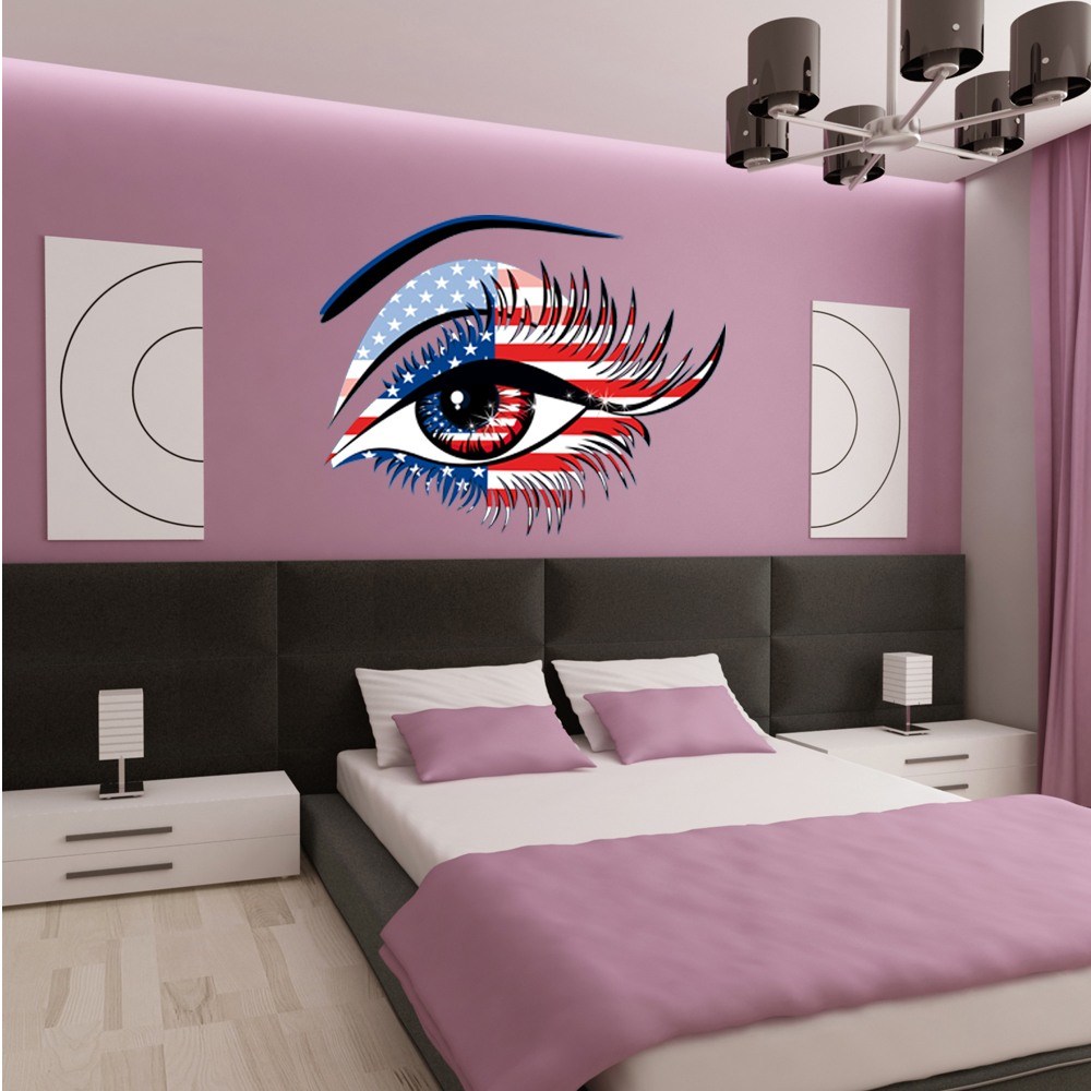 Wallstickers folies usa eye wall stickers usa eye wall stickers amipublicfo Images