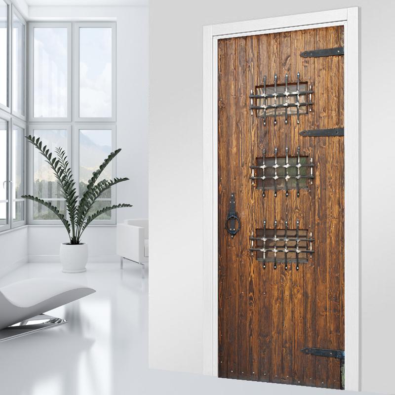 wallstickers folies wood door stickers. Black Bedroom Furniture Sets. Home Design Ideas