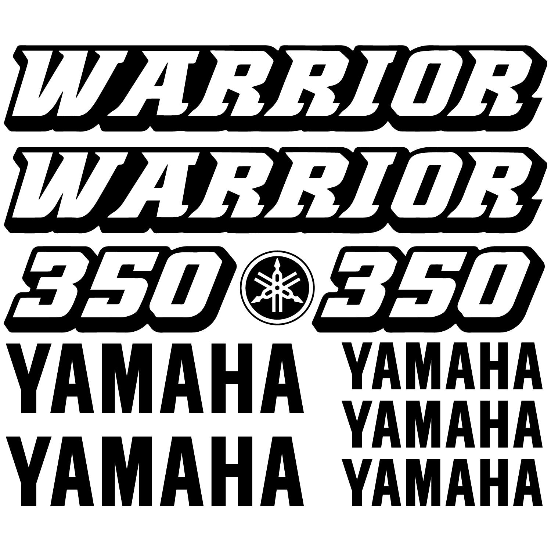 Yamaha Warrior Stock Decals
