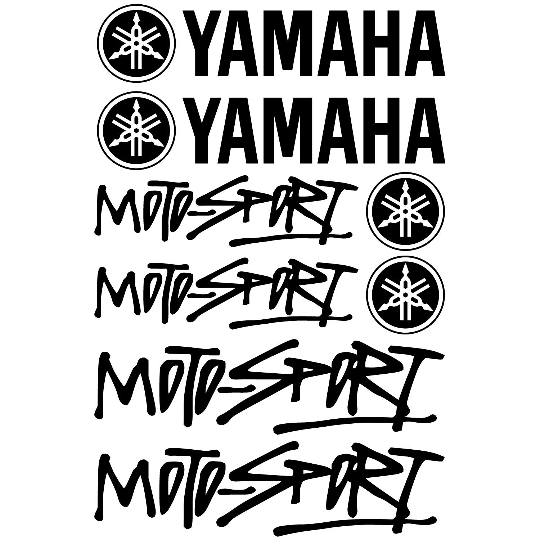 wallstickers folies   yamaha moto